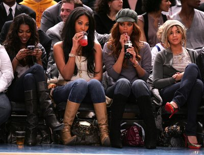Jessica White, Kimora Lee Simmons, Tyra Banks, and Beyonce
